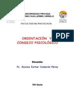CONSEJERIA  Y ORIENTACION PSICOLOGICA