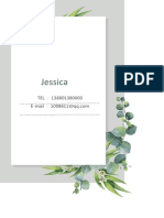 Green Leaf Resume template