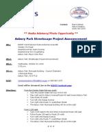 2019-10-22 NJDOT Media Advisory - Asbury Park Streetscape Project Announcement