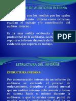 El Informe de Auditoria Interna