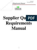 Supplier Manual Tribar