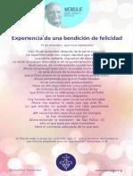 P. Dávila (Experiencia de Una Bendición de Felicidad)