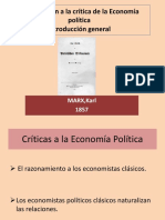 Introduccion General a La Critica de La Economia