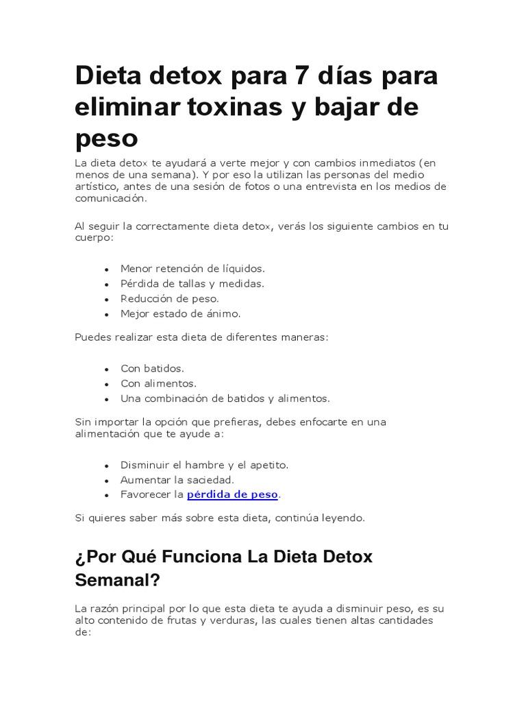dieta detox 7 días pdf