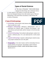 Six Types of Social Science