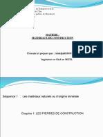 Chapitre  1  PIERRES DE CONSTRUCTION.ppt