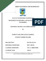 My Final Attachement Report