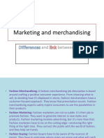 Marketing and Merchandising ...