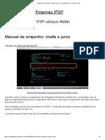 Manual de empenho_ multa e juros – Contabilidade e Finanças IFSP