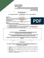 RECUPERACION SEXTO 1° periodo 2014