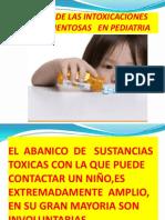 1.- Intoxicaciones en Pediatria