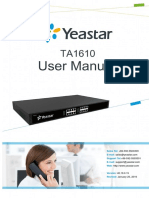 User Manual Yeastar TA1610 v40.19