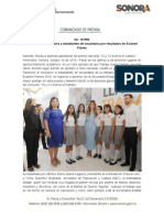 14-10-19 Reconoce Gobernadora a estudiantes de secundaria por resultados en Examen Planea