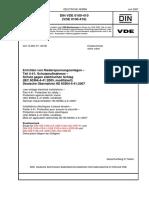 [VDE 0100-410,DIN VDE 0100-410_2007-06] -- Errichten Von Niederspannungsanlagen -Teil 4-41_ Schutzmaßnahmen -Schutz Gegen Elektrischen Schlag ( IEC 60364-4!41!2005, Modifiziert)_ Deutsche Über