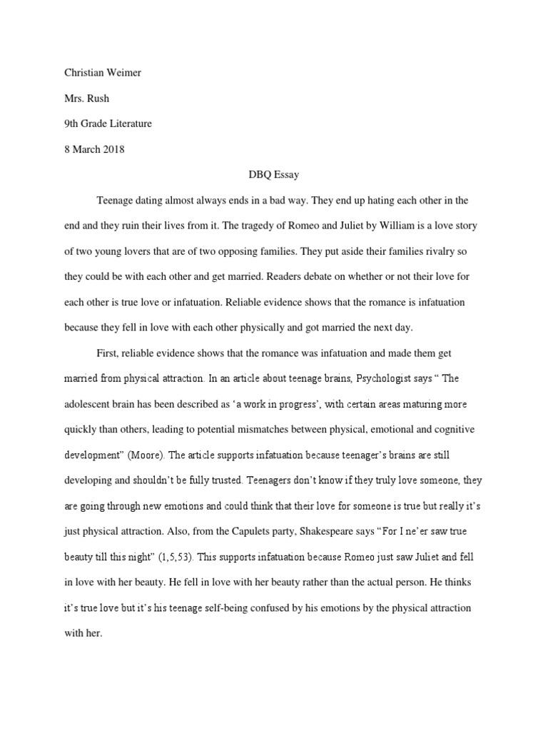 Teenage romance essay essay on respecting your parents