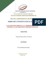 Las Garantías Frente a La Administración de Justicia y Las Garantías Constitucionales. (3)