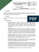 St Pr 04 Procedimiento Para El Reporte y Control de Acoso Laboral