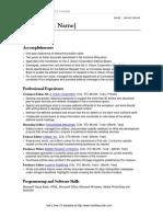 CV- template (Irish)