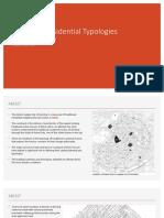 Exploring Residential Typologies