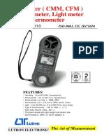 Anemometro LM 8010