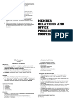 Finals Member Relations and Office Procedures in Cooperatives Reviewer