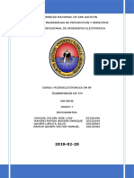 Informe Transmisor de Fm