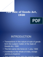 the sale of goods act.