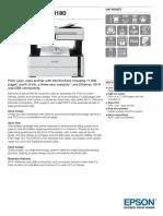 EcoTank ET M3180 Datasheet