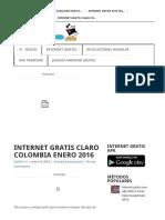 Internet Gratis Claro Colombia Enero 2016 – Internet Gratis