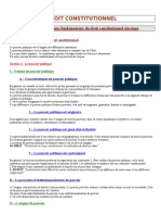 Cours - Droit Constitutionnel (IPAG)