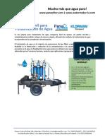Planta Movil Para Potabilizacion de Agua Panachlor
