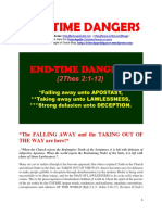 End Time Dangers