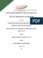 Reforma Constitucional en El Peru Actual