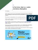 Marketing de Servicios  Qué es y cuáles son sus características.docx