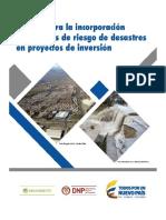 guía para la incorporación de análisis de riesgos de desastres en proyectos de inversión