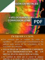 Velocidades de La Corrosion (Cinetica)