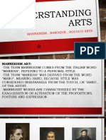 MANNERISM, BAROQUE AND ROCOCO ARTS