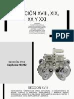Sección XVIII, XIX, XX y XXI SA