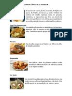 Comidas Tipicas de El Salvador