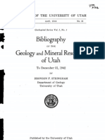Utah Geology  & Mineral resources Bibliography to 1942