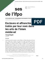 Ragib Esclaves Et Affranchis Dans Les Art Islam Medieval