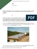 Cómo Calcular Una Instalación Solar Fotovoltaica en 5 Pasos - Click Renovables