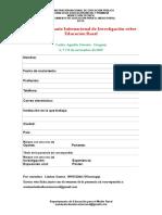 Ficha de Inscripción. Décimo Seminario