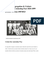Sledging, Segregation & Cricket-Australia's Cricketing Past 1830-1899 (Final) (1)
