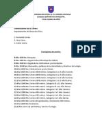 Cronograma VI Corrida Colegio Deportivo 2019