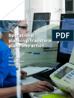Operational Planning Transforming Plans Into Action