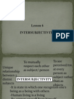 Inter Subjectivity