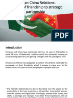 Pak China Relations