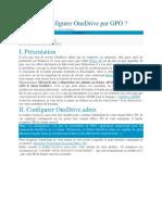 Comment Configurer OneDrive Par GPO