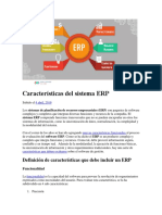 Características Del Sistema ERP